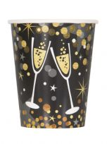 Glittering New Year Paper Cups (8)